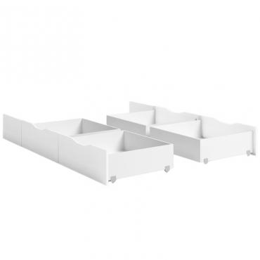 Pack 4 cajones para cama Lyon color blanco