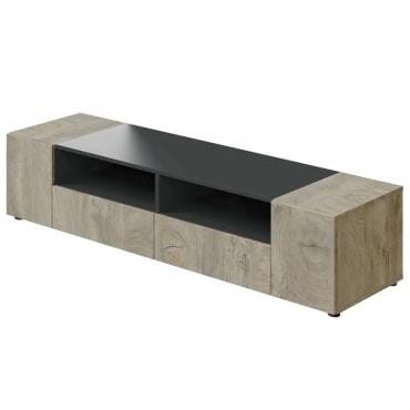 Mesa de TV Tamiko color roble y gris antracita