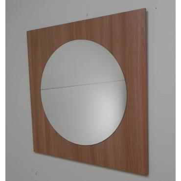 Espejo cuadrado nogal