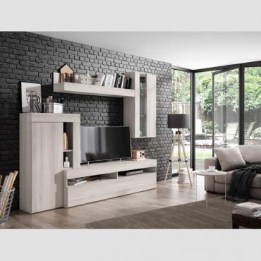 Mueble salón comedor Arendal con LED color shamal 265x212 cm