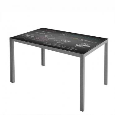 Mesa cocina seligrafiada