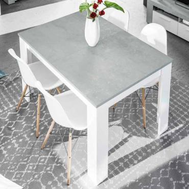Mesa comedor extensible Cemento