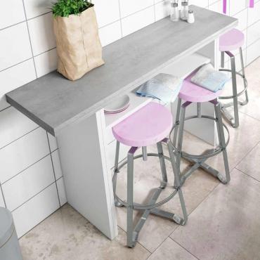 Mesa desplegable Table consola diseño cemento