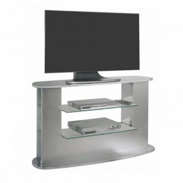 Mesa televisión color plata moderna