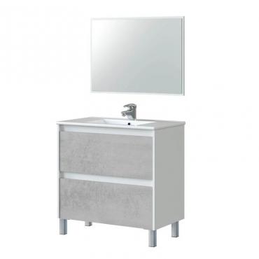 Mueble baño Zenda cemento