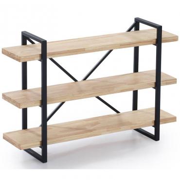 Estanteria Plank roble nordish salvaje y negro industrial