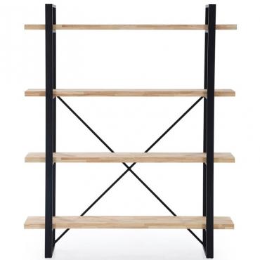 Estanteria Plank 4 roble nordish salvaje industrial 150x35x180