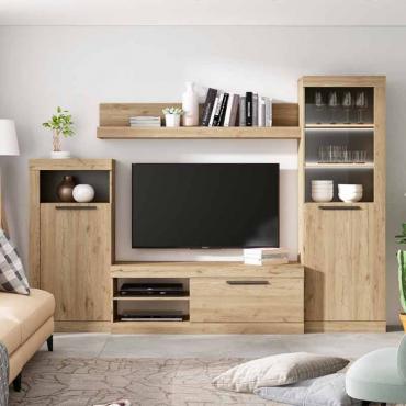 Mueble TV salón Rústik modular