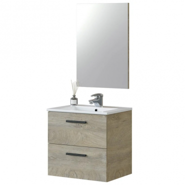 Mueble baño Aruba Roble Alaska 60x45 (lavabo opcional)