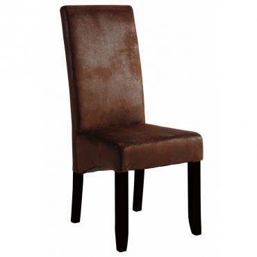 Silla Sagua estilo vintage castaño y negro